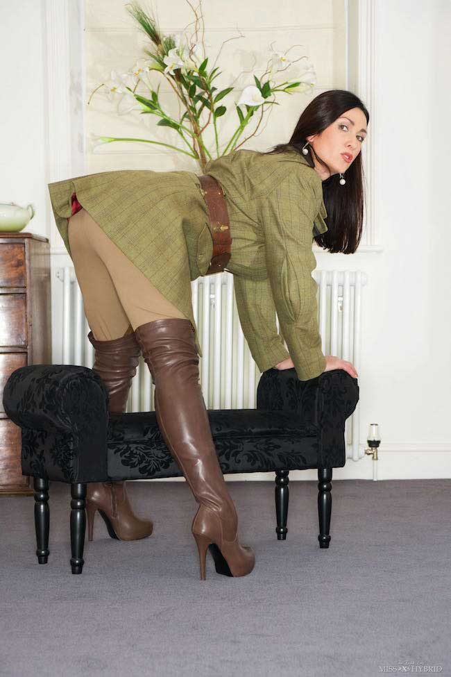 Tight Ralph Lauren jodhpurs Miss Hybrid big tits and Magic Wand.